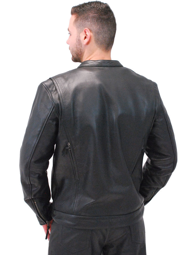 First MFG No Collar Men's Vented CCW Motorcycle Jacket #M263GVZK