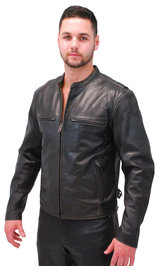 First MFG Men's Vintage CCW Cafe Racer Leather Jacket #M278VN