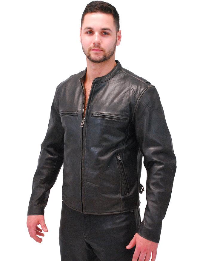 First MFG Men's Vintage CCW Cafe Racer Leather Jacket #M278VN