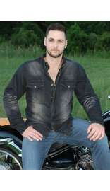 Milwaukee Denim Men's Motorcycle Shirt with Armor CCW #MSC1620GAK