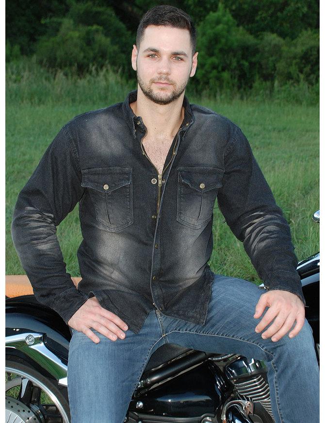 Milwaukee Denim Men's Motorcycle Shirt with Armor CCW #MSC1620GAK