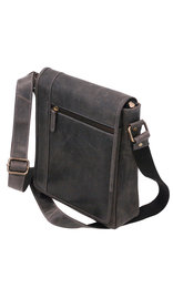 (d) Vintage Black 9x10 Side Satchel Purse #P163060K