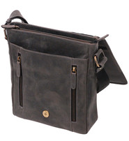 Vintage Black 9x10 Side Satchel Purse #P163060K
