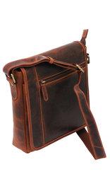 Vintage Brown 9x10 Side Satchel Purse #P163061N