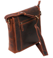 Vintage Brown 9x10 Side Satchel Purse #P163061N