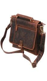 Vintage Brown 9x10 Satchel Purse w/Buckle Flap #P163261N