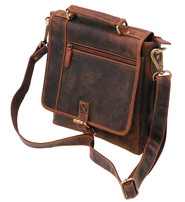 Vintage Brown 9x10 Satchel Purse w/Buckle Flap #P163261N