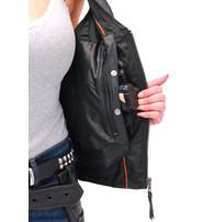 Vance Women's Double Side Buckle Black Zip Vest CCW #VL10370GVK