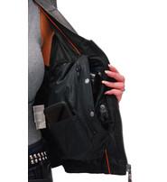 Women's Gray Double Side Buckle Zip Vest CCW #VL10372GVGY