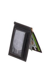 Vintage Black Leather Money Clip Wallet #W513170KID