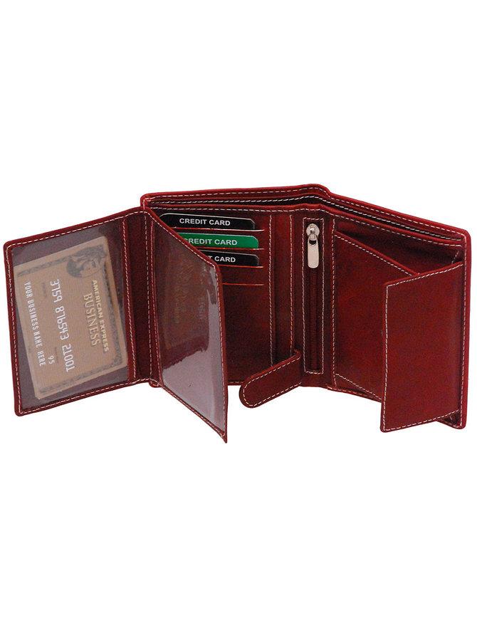 Women's Brown Leather 12 Pocket Organizer Wallet #WL111ZN