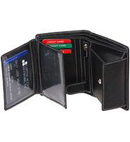 Black Leather 12 Pocket Organizer Wallet #WL110ZK