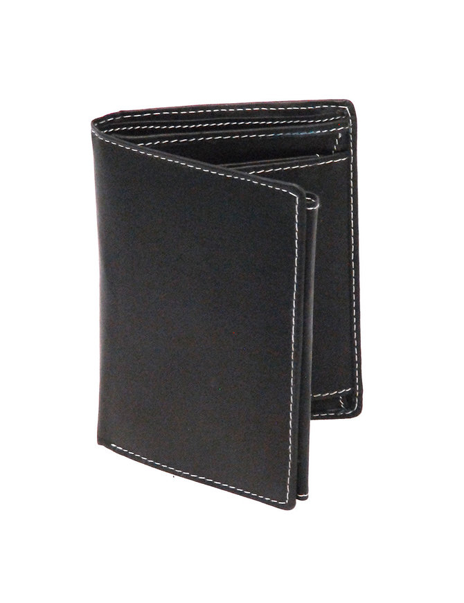 Women's Black Leather 12 Pocket Organizer Wallet #WL110ZK