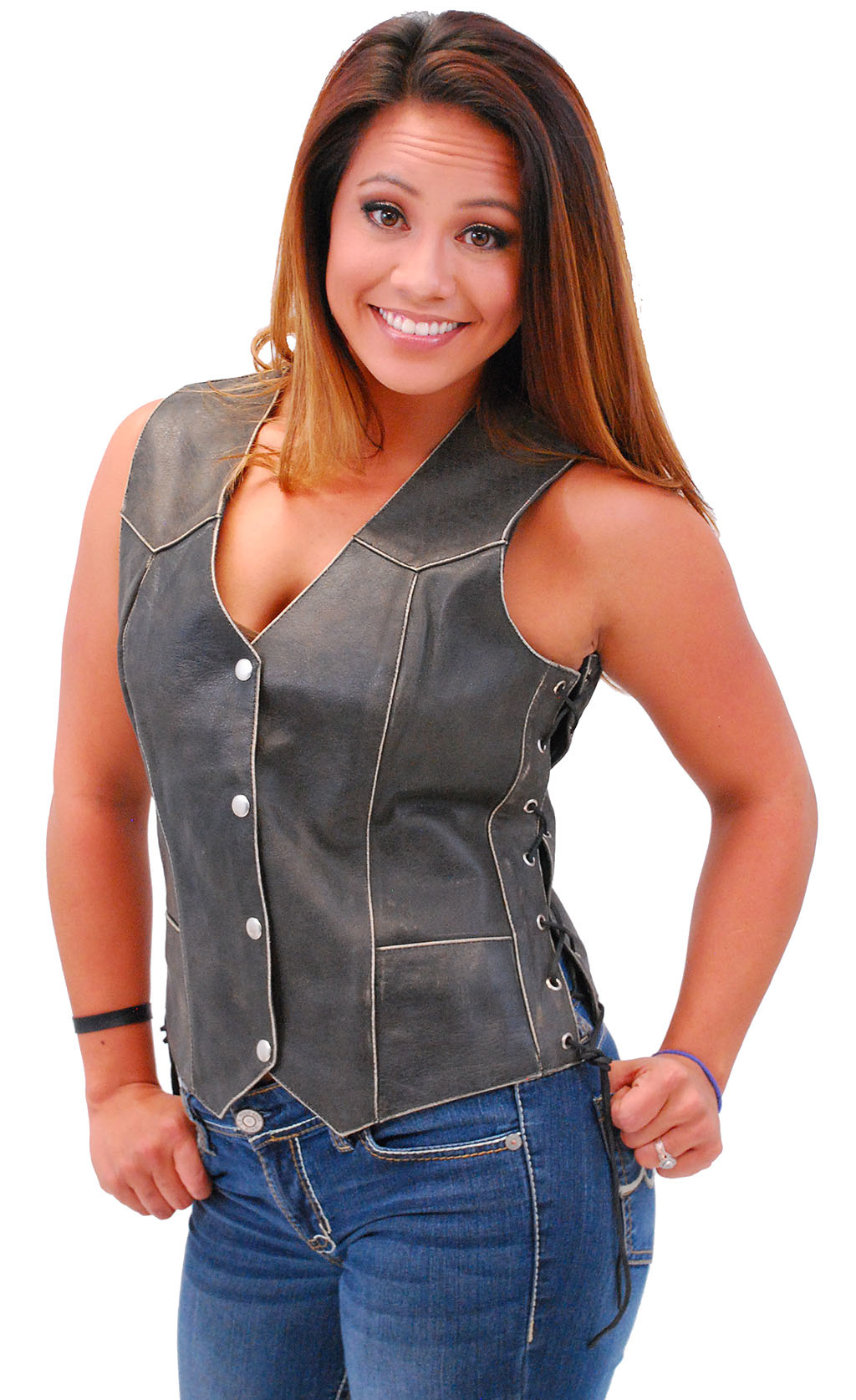 Brown Women/'s Vest Brown stoped with knocker Vest Women Suede vest Sleeveless Blazer Brown waistcoat stoped with lining vest