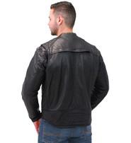Men's Lightweight Leather CCW Scooter Jacket w/Quilt #M543GVZK