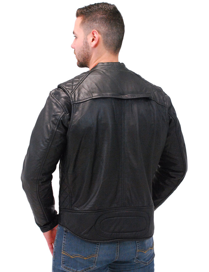 Vance Men's Lightweight Leather CCW Scooter Jacket w/Quilt #M543GVZK