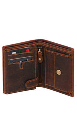 Women's Vintage Brown 12 Pocket Organizer RFID Wallet #WL13091NID