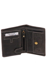 Women's Vintage Black 12 Pocket Organizer RFID Wallet #WL13090KID