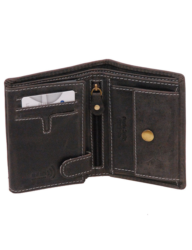 Vintage Black 12 Pocket Organizer RFID Wallet #WL13090KID