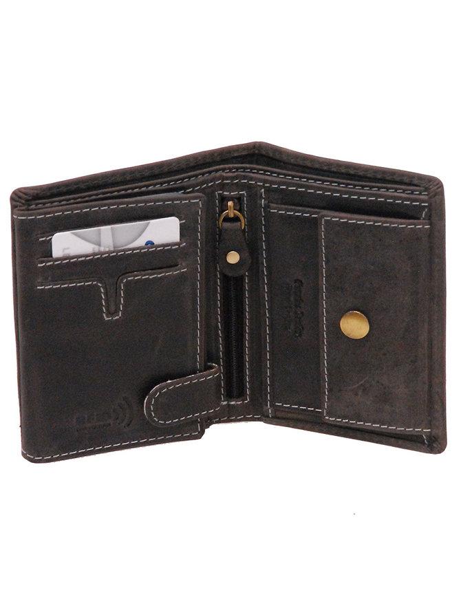 Women's Vintage Black 12 Pocket Organizer RFID Wallet #WL13090KID