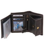Vintage Black 12 Pocket Organizer RFID Wallet #WL13090KID