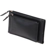 Women's Black 16 Leather Pocket Checkbook Wallet #WL5140ZK