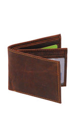 Vintage Brown Bifold w/Center Flap 14 Pocket RFID Wallet #WB13121NID