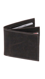 Vintage Black Bifold w/Center Flap 14 Pocket RFID Wallet #WB13120KID