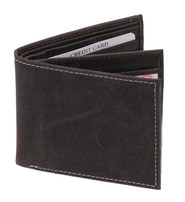 Vintage Black Bifold w/Center Flap 14 Pocket RFID Wallet #WM13120KID