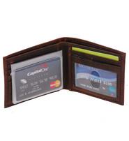 Vintage Brown Bifold RFID Wallet w/Photo Insert #WM13011NID