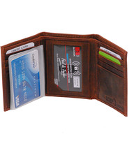 Men's Vintage Brown Classic Trifold Wallet #WM13141NID