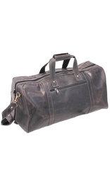 Vintage Black Heavy Leather Over-sized Duffel Bag #P163080K
