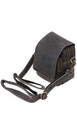 Vintage Gray / Black Cross Body Travel Bag and Belt Pouch #P163200K
