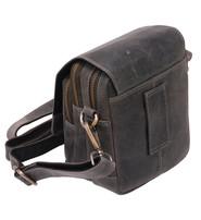 Vintage Gray / Black Cross Body Travel Bag and Belt Pouch #P163200K