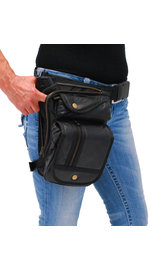 Oversized Zipper CCW Thigh Bag w/Holster #TB9799GK
