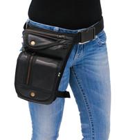 Oversized Zipper CCW Thigh Bag w/Holster #TB9799GK