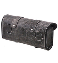 Vintage Gray Double Buckle Motorcycle Tool Bag #TP9658DGY