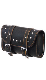 Vintage Brown Studded Double Buckle Fork Tool bag #TP9664RDN