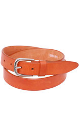"Brown Narrow 1"" Wide Leather Belt in Premium Heavy Cowhide #BT15001N"