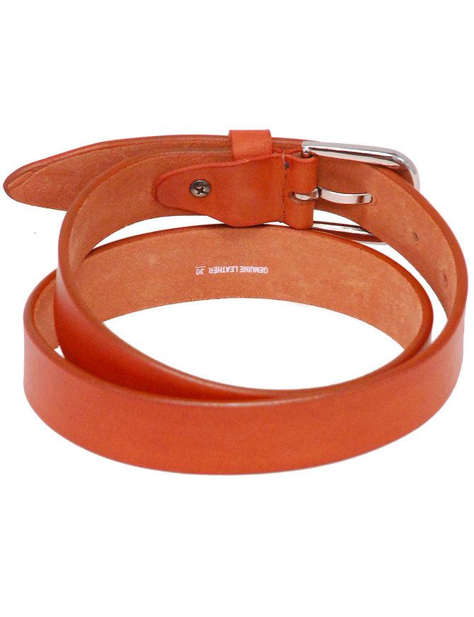 """Brown Narrow 1"""" Wide Leather Belt in Premium Heavy Cowhide #BT15001N"""