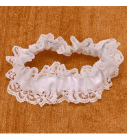 Jamin Leather White Wedding Leather Garter #A190413GBW