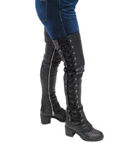 Milwaukee Leather Thigh High Side Lace Boot Upper #A6760XLZK