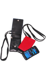 Red Leather Tall Cell Phone Cross Body Case #AC252R
