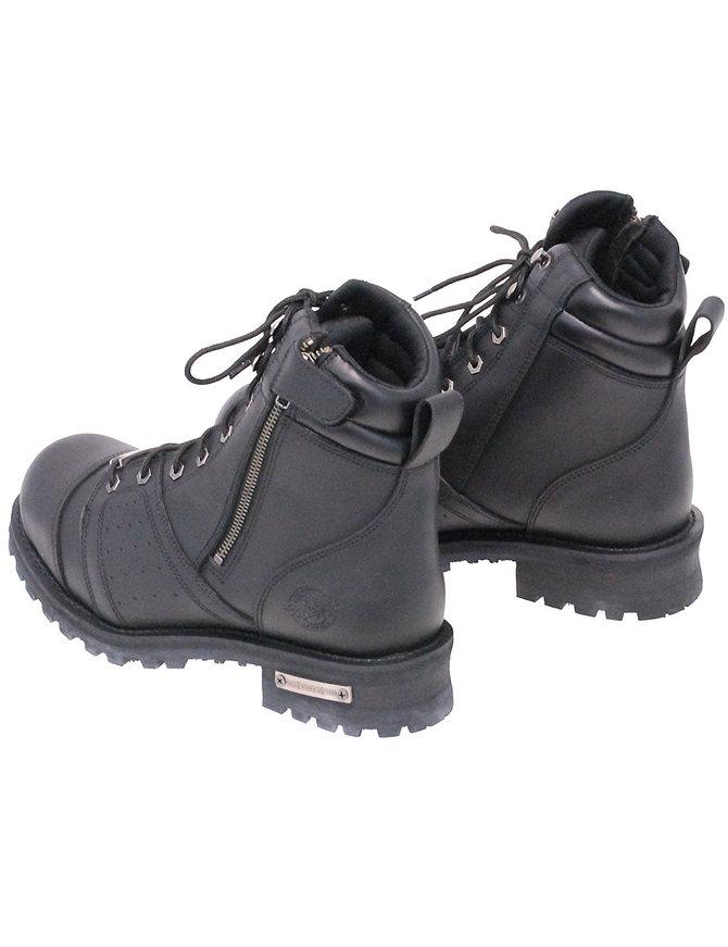 "Milwaukee Men's 6"" Lace-Up zip Biker Boots #BM9000LZK"