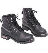 """Men's 6"""" Reflective Lace-Up Zip Biker Boot #BM9797LZK"""
