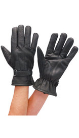First MFG Women's Soft Leather Driving Gloves w/Wrist Strap #G1280K