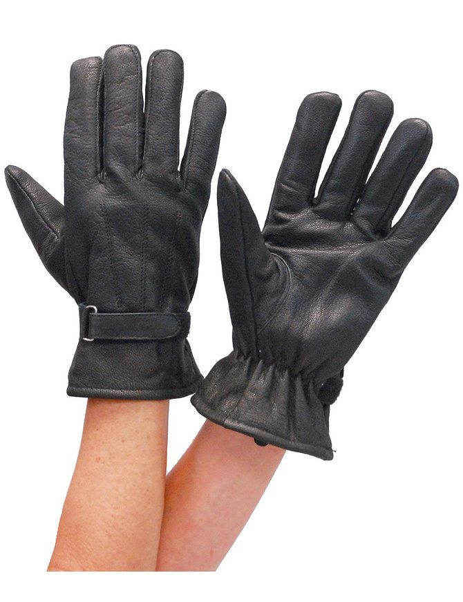 First MFG Women's Soft Leather Driving Gloves w/Wrist Strap #G1280K