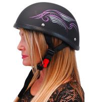 Novelty Eagle Helmet w/Purple Tribal Wings #H31PU