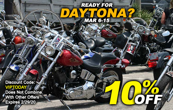 Save 10% Now Before Daytona Starts!