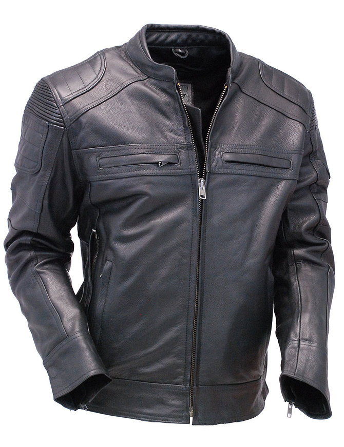 Unik Men's Vented CCW Motorcycle Jacket w/Stretch Shoulders #M6920VZK